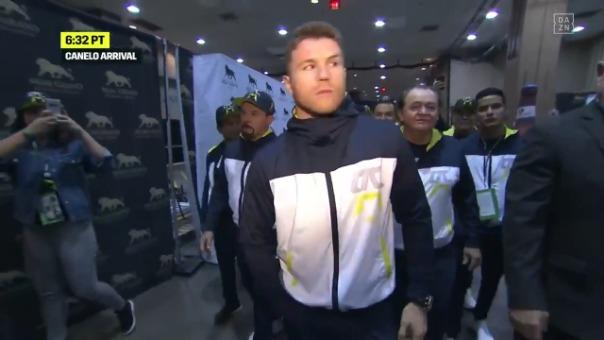 Así fue la llegada de Canelo Álvarez al MGM Grand Arena.