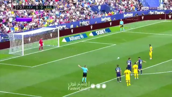 Lionel Messi anota de esta forma.