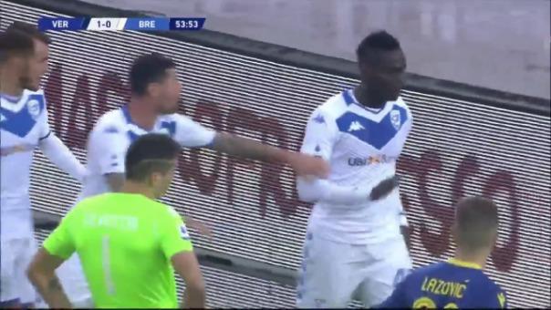 Esta fue la reacción de Mario Balotelli ante el Hellas Verona.