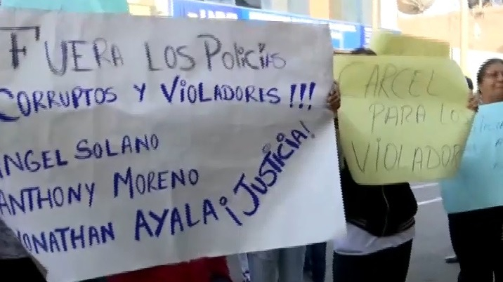 Protestas en Barranca contra policías acusados de violación