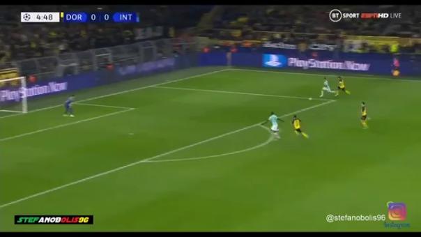 Inter de Milán frente al Borussia Dortmund.