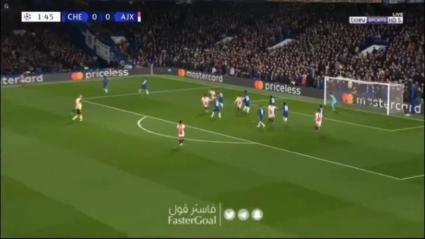 Así fue el gol de Quincy Promes ante el Chelsea de tiro libre.