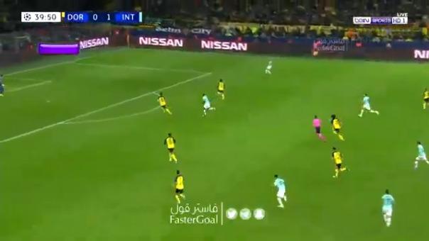 Inter de Milán anotó el 2-0 ante Dortmund.