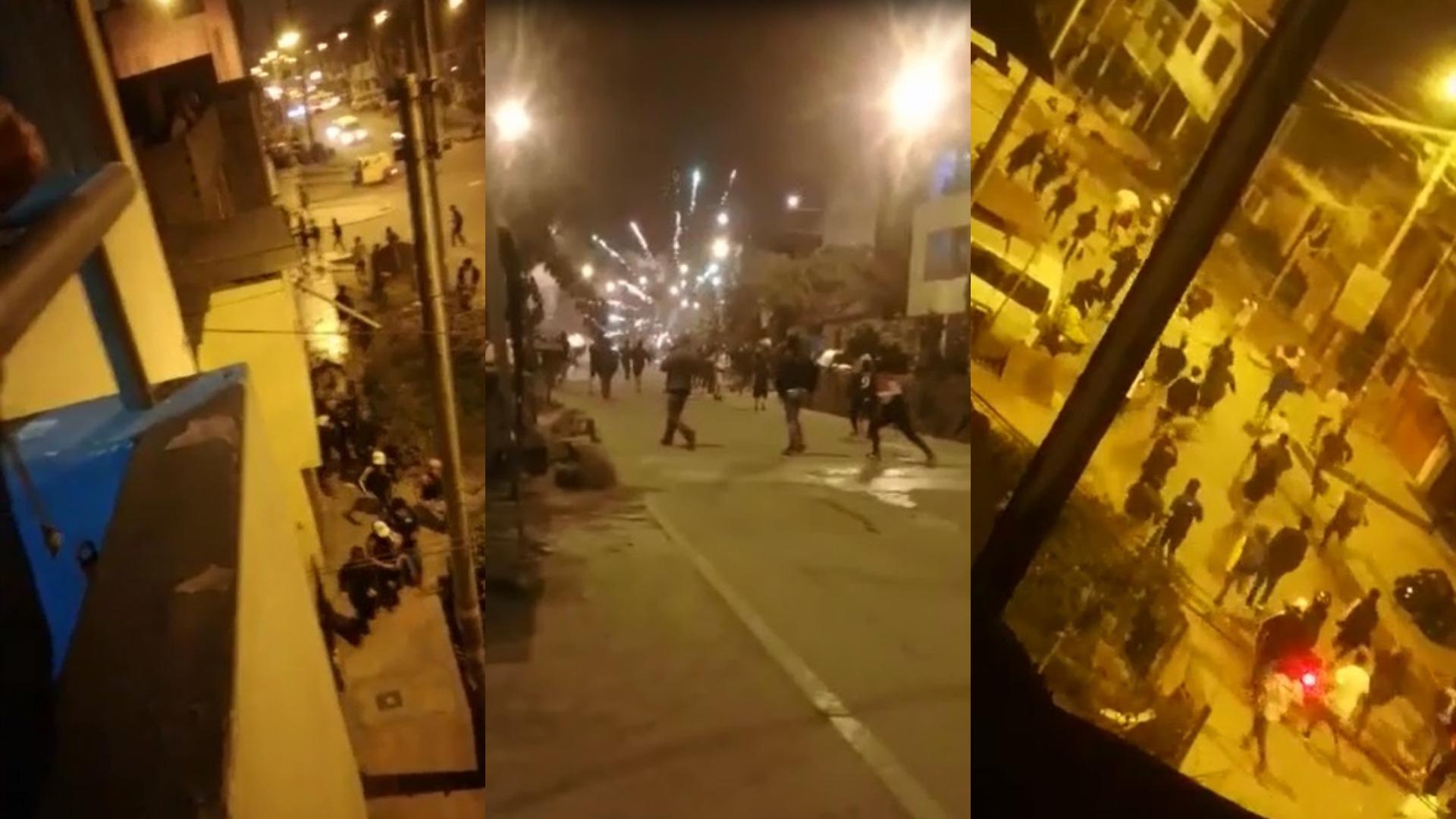 Barristas se enfrentan en Pamplona