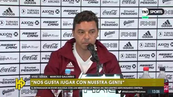 Marcelo Gallardo habló sobre la chance de entrenar de Matute.