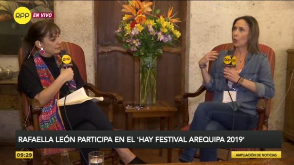 Hay Festival Arequipa 2019: Rafaella León confirma su deseo de escribir un segundo libro de Martín Vizcarra