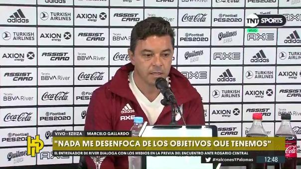 El entrenador de River Plate Marcelo Gallardo.