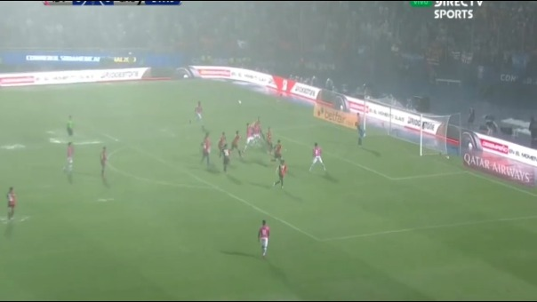 Así fue el gol de Luis León ante Colón por Copa Sudamericana.