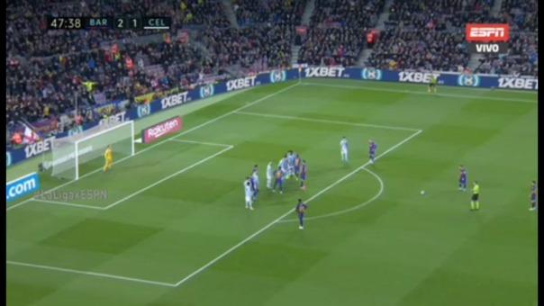 Lionel Messi anotó nuevamente de tiro libre en el Barcelona vs. Celta de Vigo por LaLiga