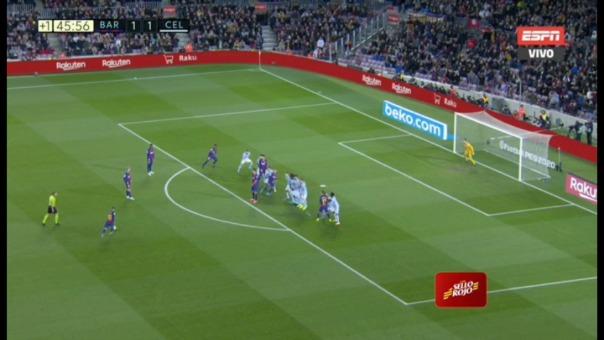 Lionel Messi anotó el 2-0 ante Celta.