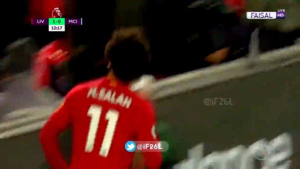 Así fue el gol de Mohamed Salah contra el Manchester City.