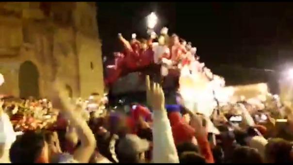 Así celebró Cienciano su ascenso a la Liga 1 por las calles de Cusco