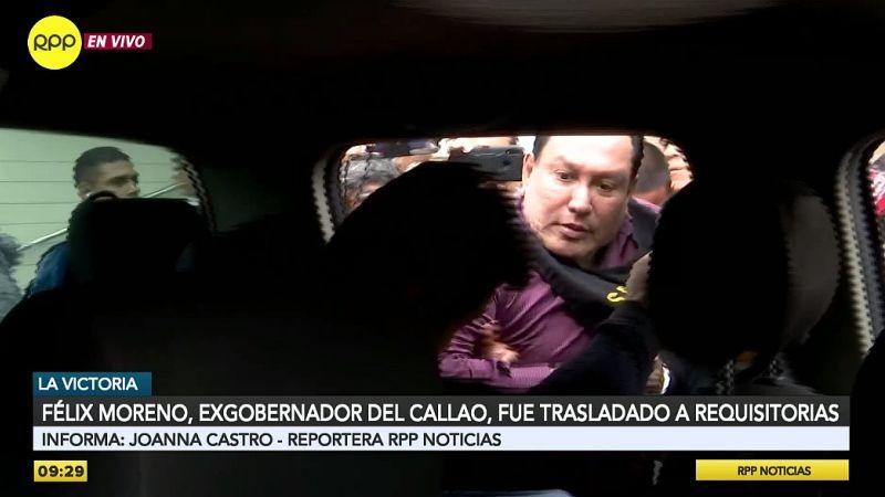 Así fue el traslado de Félix Moreno a la sede de Requisitorias.