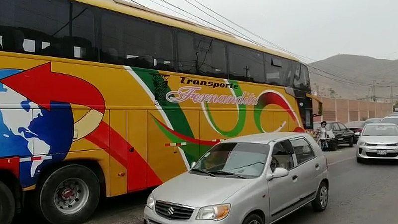 El bus intervenido fue trasladado a la Comisaría de Sol de Oro.