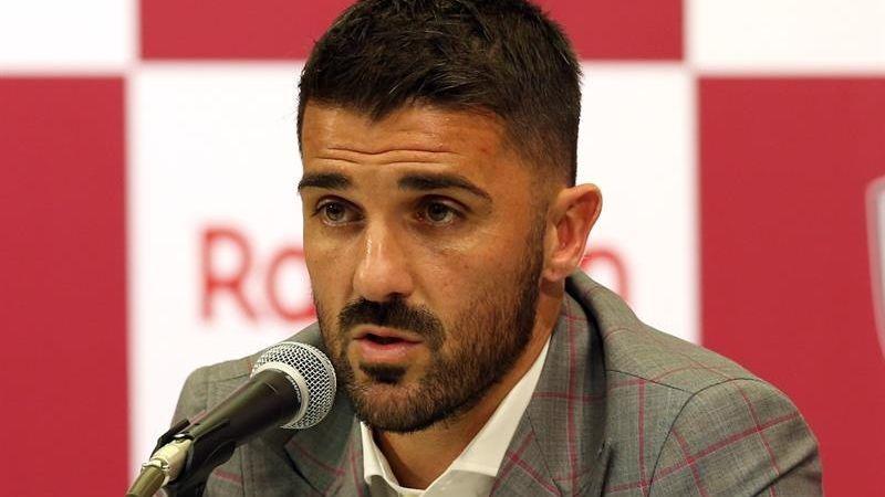 David Villa se despedirá del fútbol profesional defendiendo la camiseta del Vissel Kobe de Japón.