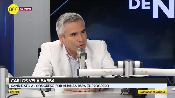Carlos Vela, candidato al Congreso por Alianza para el Progreso.