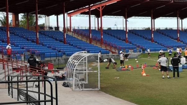 Entrenamiento de la Selección Peruana en Miami.