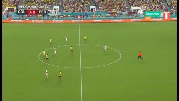 Un hincha de la Selección Peruana ingresó a la cancha.