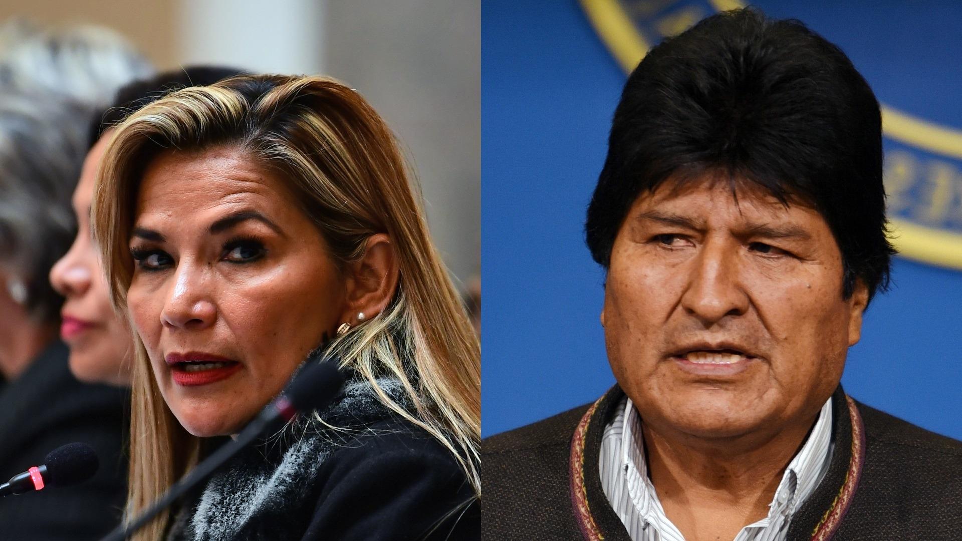 Presidente interina de Bolivia, Jeanine Añez, lanza advertencia al exmandatario Evo Morales.