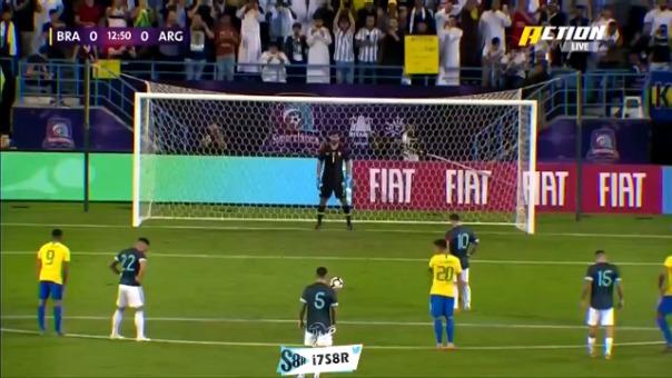 Lionel Messi anotó el 1-0 en el Argentina vs. Brasil por el amistoso internacional