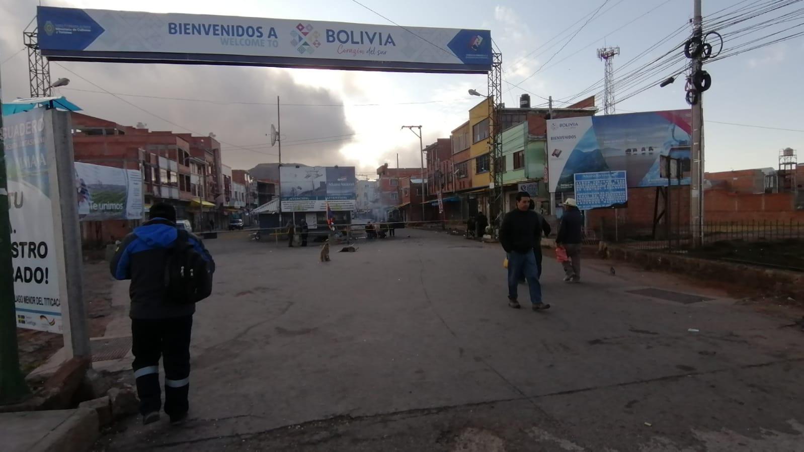 Este el control de ingreso que realizan los bolivianos en el puente Internacional de Desaguadero.