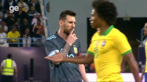 Lionel Messi mandó a callar a Tite.