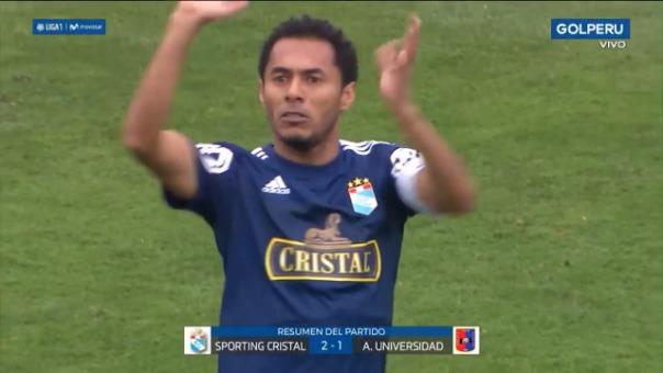 Carlos  Lobatón marcó de penal el gol de triunfo de Sporting Cristal