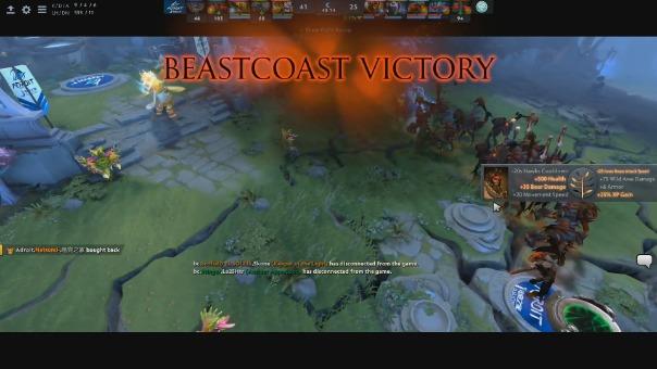 Así fue la victoria de Beastcoast.