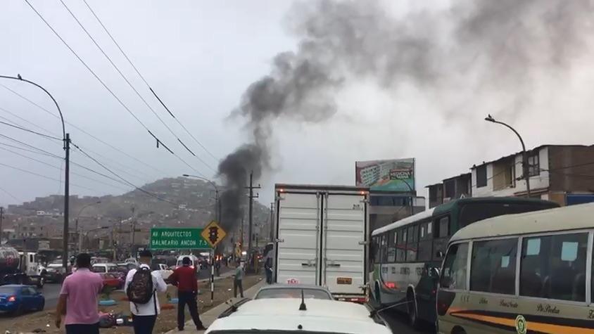 Protesta en Panamericana Norte