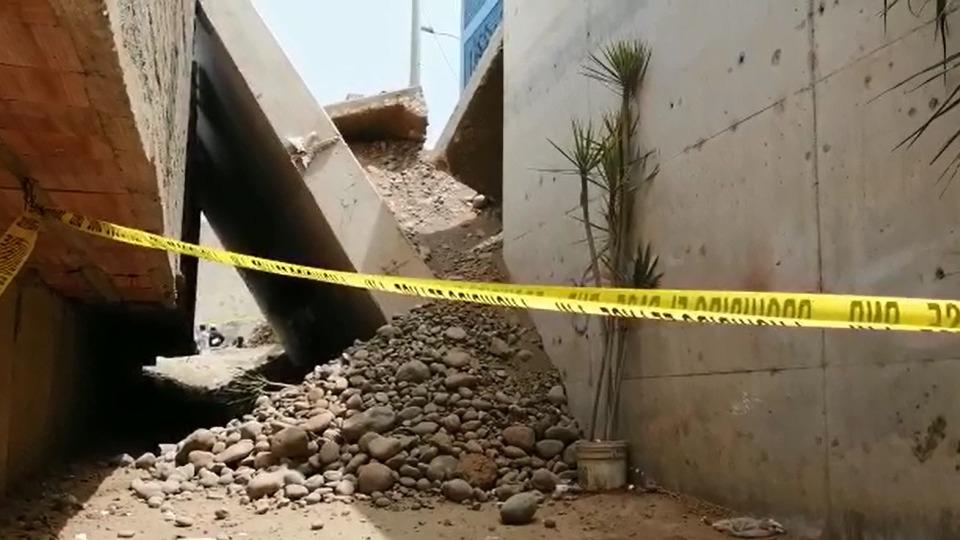 Derrumbe en La Molina