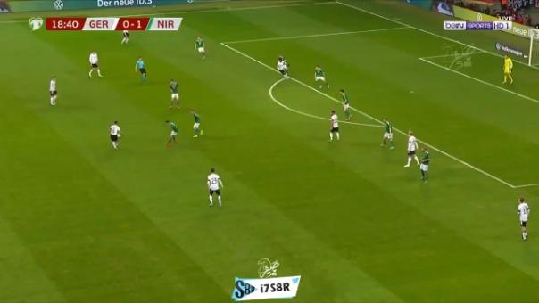 Así fue el golazo que Serge Gnabry marcó con Alemania