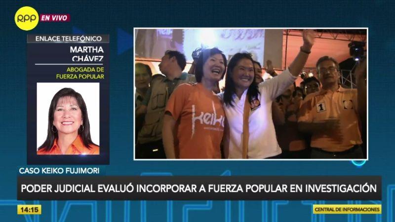 Martha Chávez en entrevista con RPP Noticias.