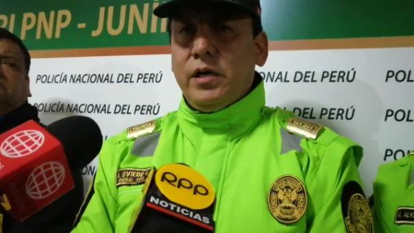 Alejandro Oviedo, jefe de la VI Macro Región Policial, habla sobre la agresión ocurrida en Huancayo.