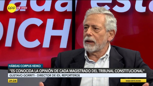 Entrevista con Gustavo Gorriti en Nada Está Dicho por RPP Noticias.