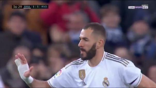 Así fue el gol de Karim Benzema.