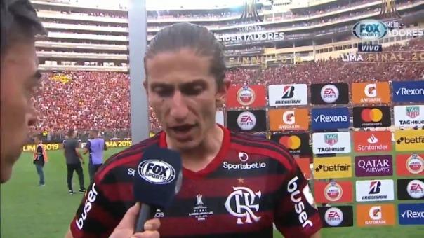 Estas fueron las declaraciones de Filipe Luis tras la victoria contra River Plate.