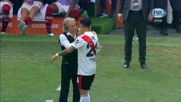 ¡Emotivo reencuentro! El abrazo entre Jorge Jesús y Enzo Pérez previo a la final de Copa Libertadores