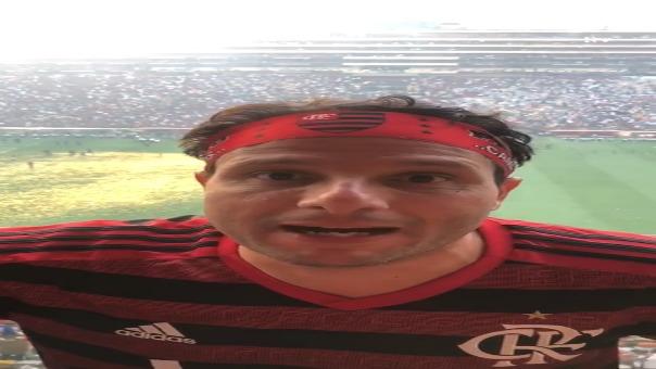 Así fue el mensaje del hincha de Flamengo hacia Alianza Lima.