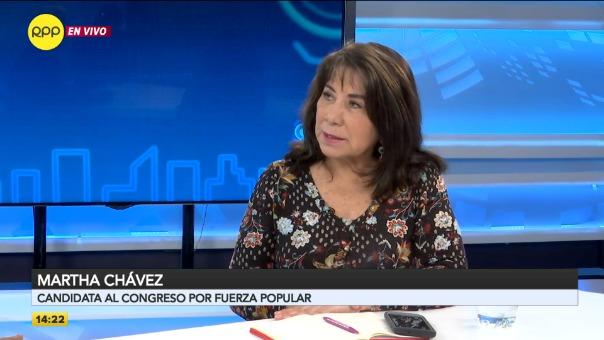 Martha Chávez saluda decisión del Tribunal Constitucional.