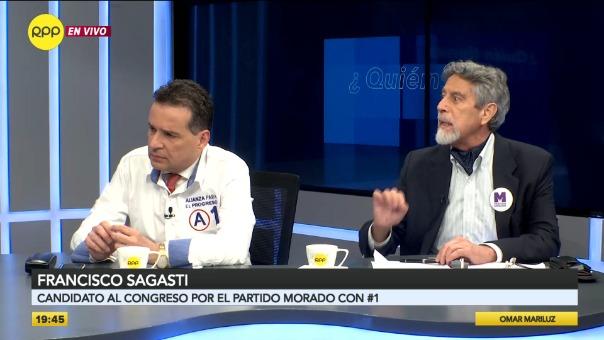 Omar Chehade (Alianza Para el Progreso) y Francisco Sagasti (Partido Morado).