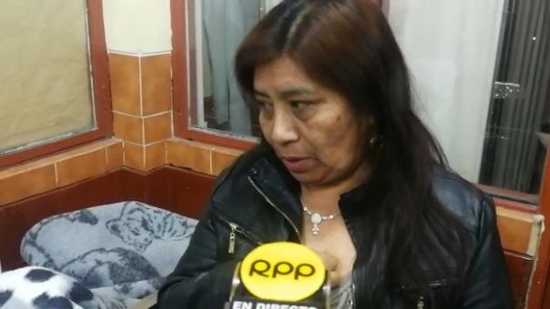 La esposa, Petronila Juárez, declara a RPP luego de ver al hombre.