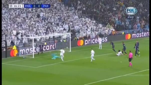 Así fue el gol de Karim Benzema frente al PSG.
