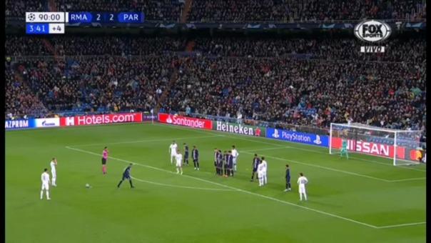 Gareth Bale y su disparo ante el PSG.