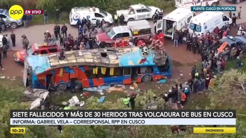Siete personas murieron en el accidente ocurrido esta madrugada.