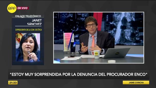 Janet Sánchez responde por la denuncia que interpuso en su contra el procurador Amado Enco.