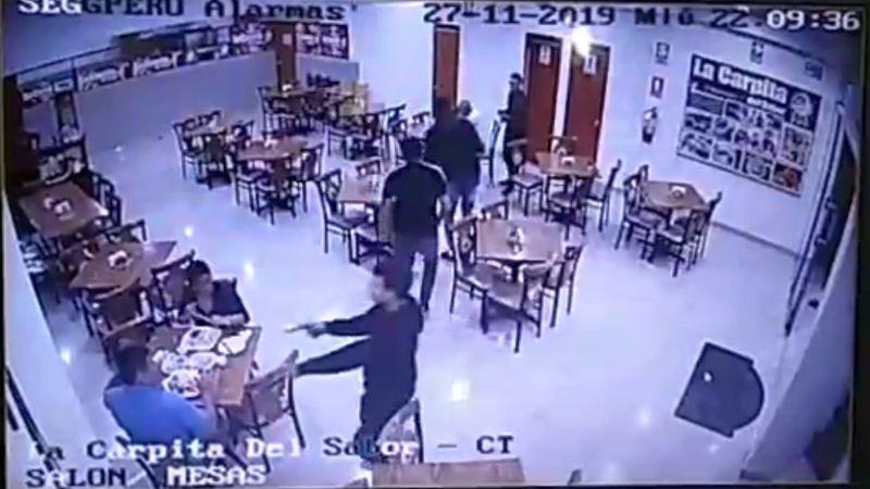 Así fue el asalto en el restaurante.