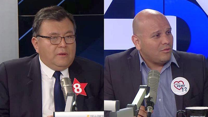 Andrés de los Ríos (APRA) y Alejandro Salas (Somos Perú) estuvieron esta mañana en Ampliación de Noticias.