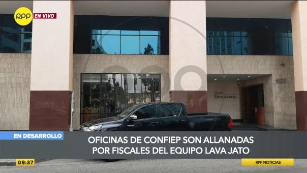 Fiscalía allana oficinas de la Confiep en San Isidro.