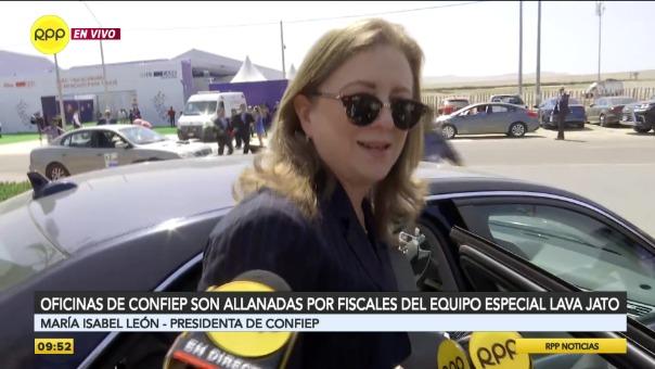 María Isabel aseguró que la Confiep ya entregó toda la documentación necesaria a la Fiscalía.