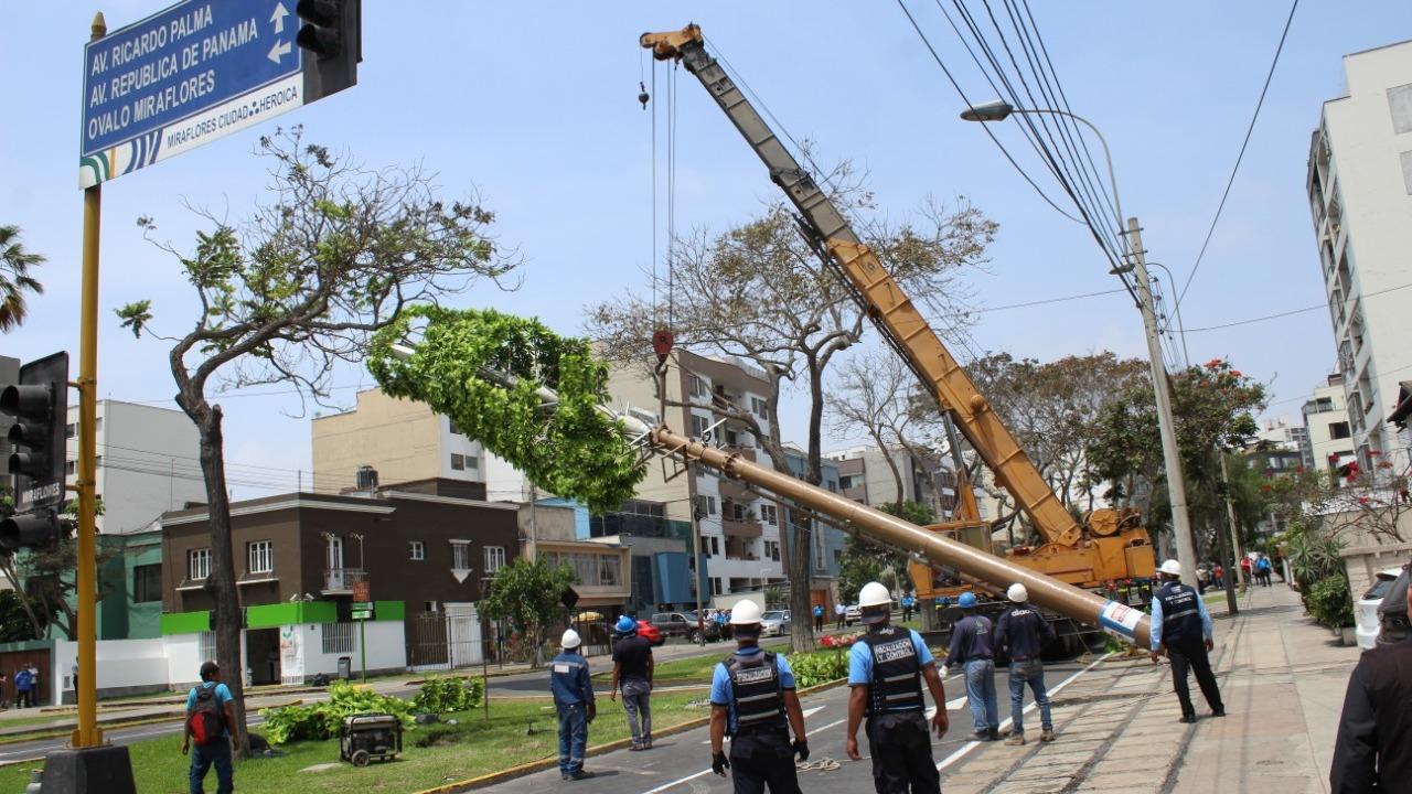 Los vecinos del cruce de las calles Roca y Bologna con Ricardo Palma destacaron la acción municipal.